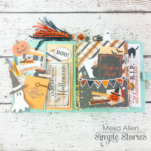 Carpe Diem Planner - Simple Stories Happy Haunting
