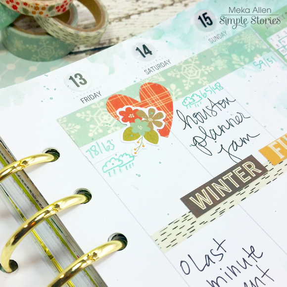 Winter Wonderland - Carpe Diem Planner - Simple Stories