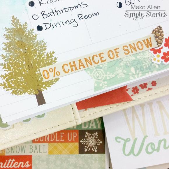 Winter Wonderland - Carpe Diem Planner - Simple Stories