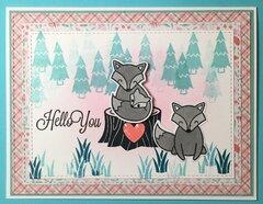 Fox Love Bluegreen Baby Card