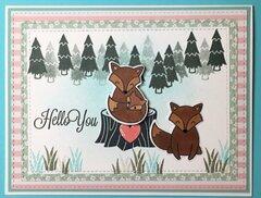 Fox Love Baby Card