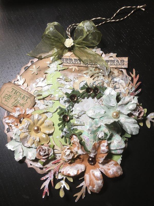 Vintage paper ornament