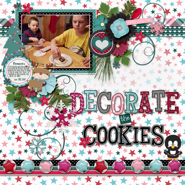 decorate the cookies