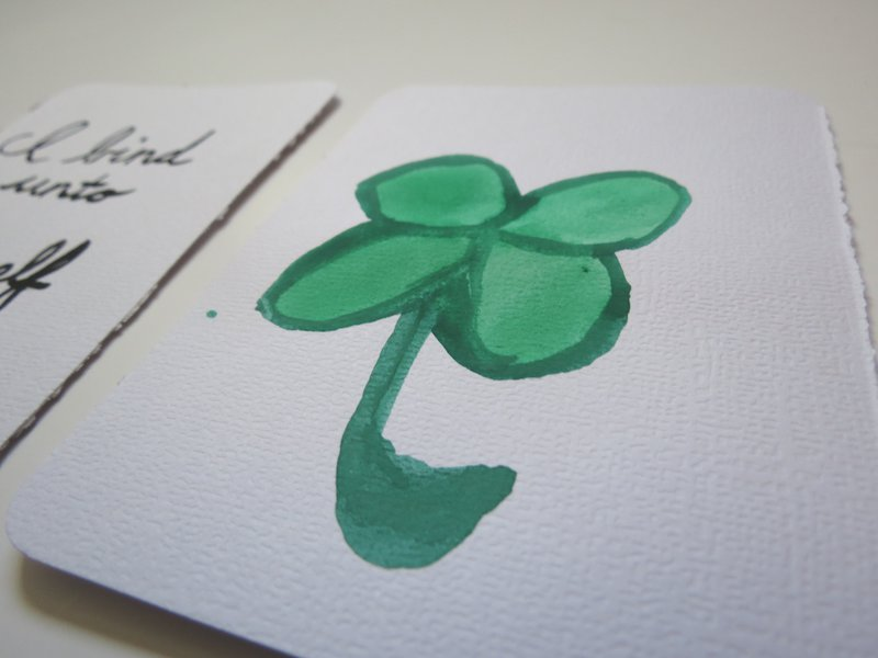 St. Patrick's Day Watercolor PL Cards