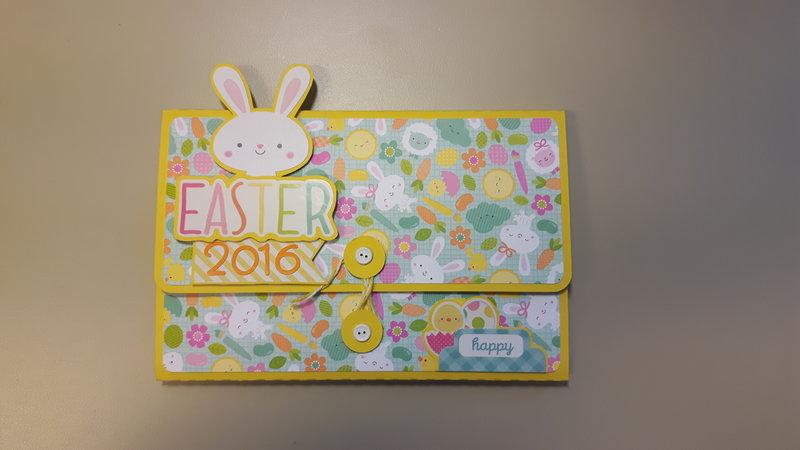 Mini wallet album: Easter 2016
