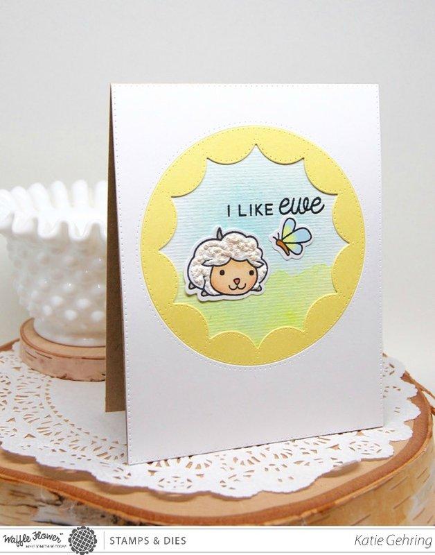 I like Ewe Sheep Card