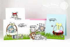 Welcome Spring Egg Hunt Cards