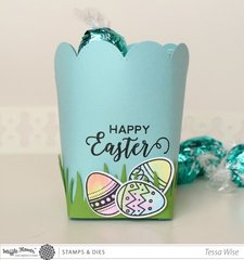 Happy Easter Petal Holder and Eggs