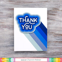 Rainbow Thank you ombre card