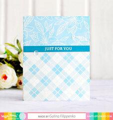 Plaid Lily card