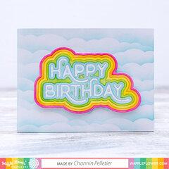 Rainbow Happy Birthday Card