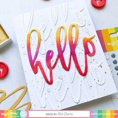 Oversized Hello Card