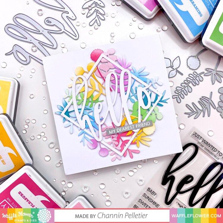 Rainbow Sprigs Hello Card