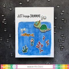 Just Keep Swimming Encouragement Card