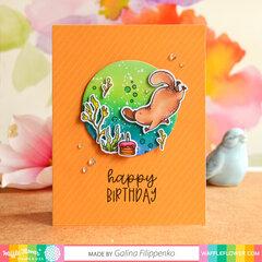Under water Birthday card