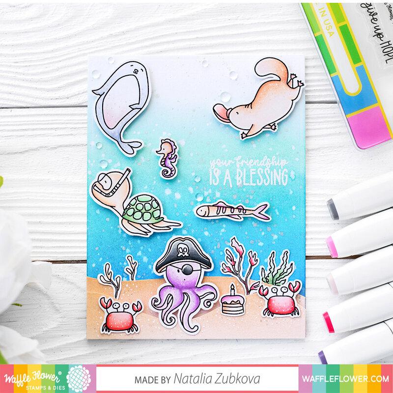 Sea Creature Friendship Card