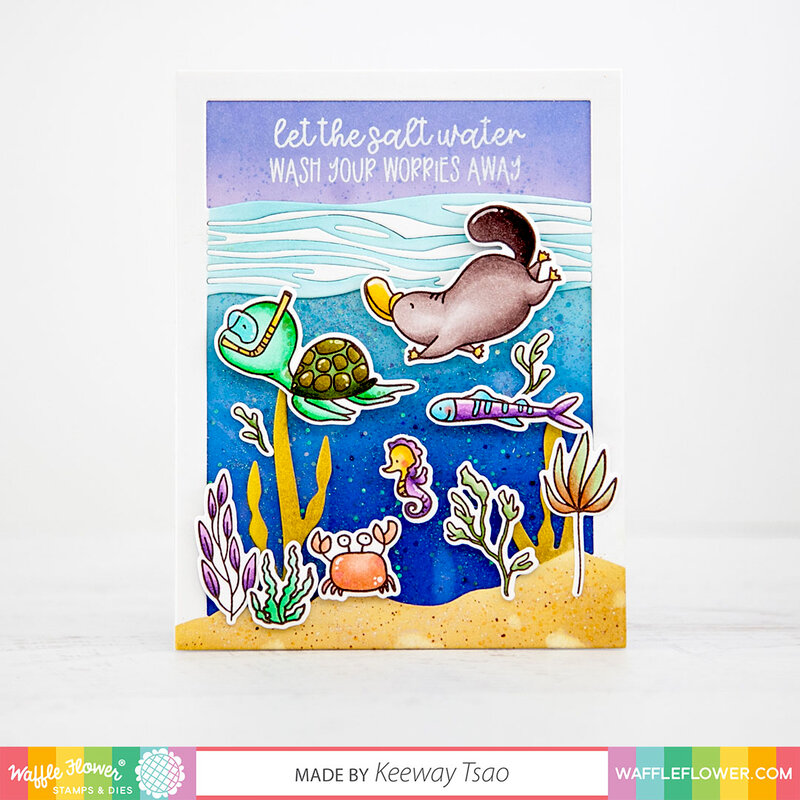 Watery Encouragement Card