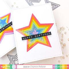 Rainbow Stacked Shaker Star Card