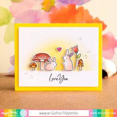 Love you bunnies Card
