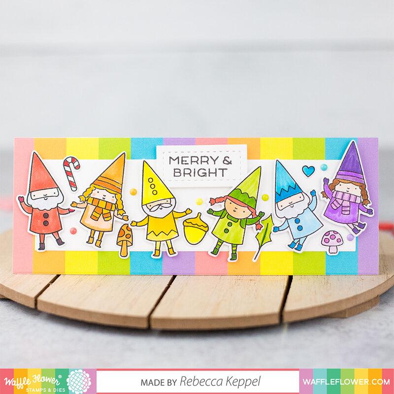 Happy Gnomes Rainbow Holiday Card