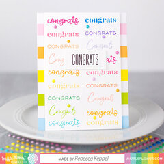 Rainbow Congrats Card
