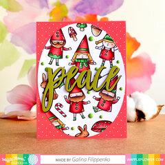 Peaceful gnomes card