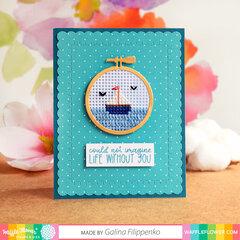 Blanket Stitch Layers Die Card