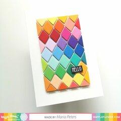 Rainbow Argyle Hello Card