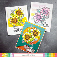 Layered Sunflowers Card
