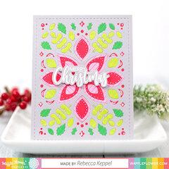 Winter Floral Panel Die Card
