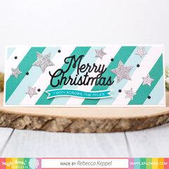 Merry Christmas Word Die