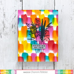Paint Strokes and Herb Silhouette Card