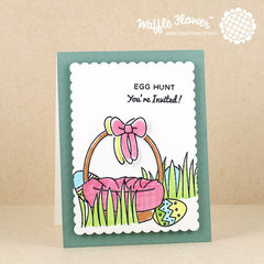 Egg Hunt in Chunky Grass Card