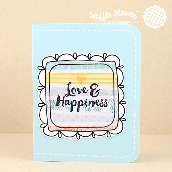 Love & Happiness Doily Square Card