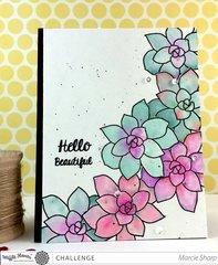Hello Beautiful Succulents Card