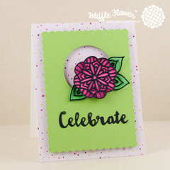 Celebrate Lacy Flowers Card