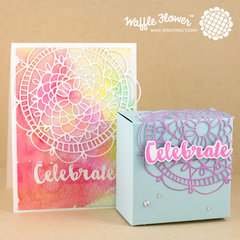Celebrate Doily Circle Card and Box