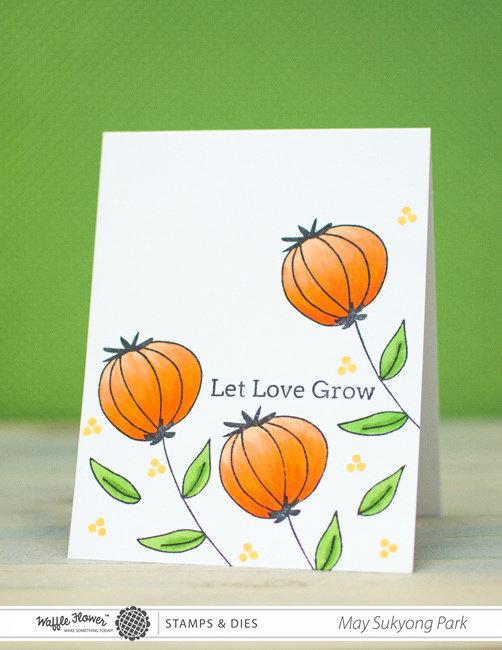 Poppy Let Love Grow Card