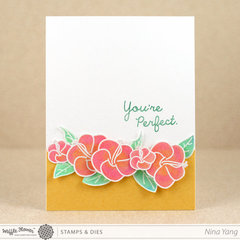 You're Perfect Hibiscus Card