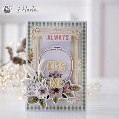 A card - Kiss me