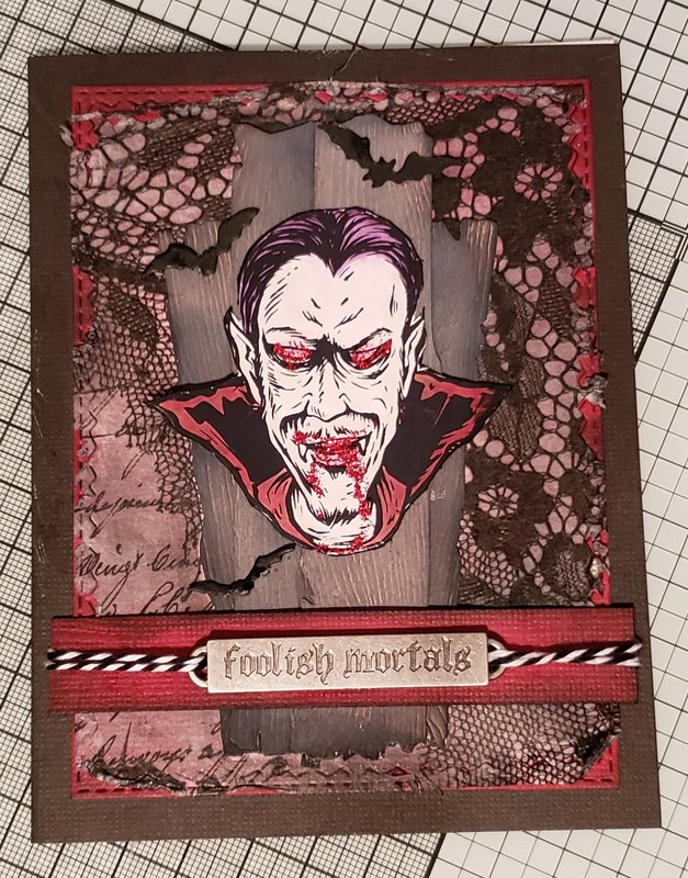 Foolish Mortals Halloween Card