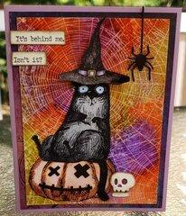 Snarky Cat Halloween Card
