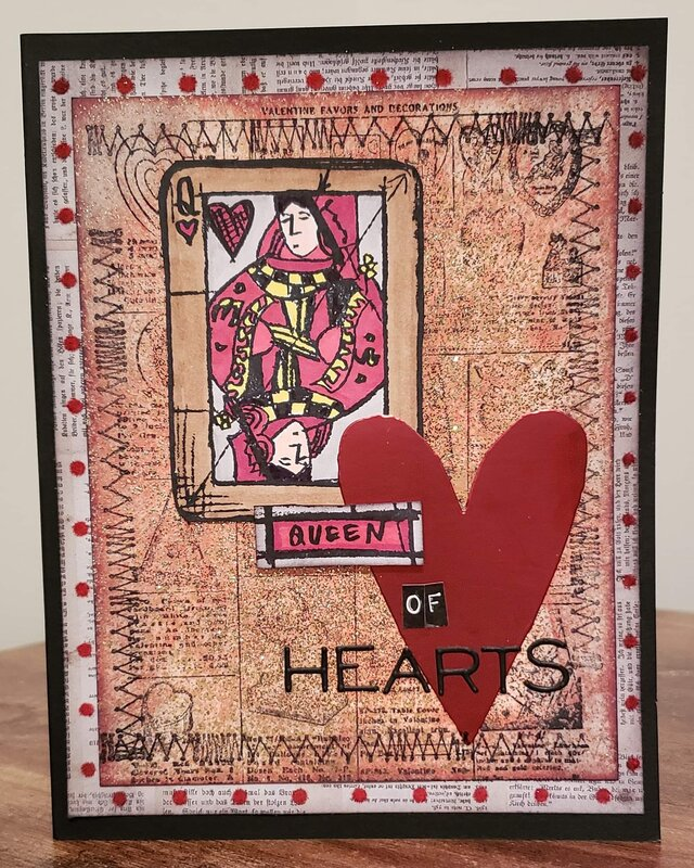 Queen of Hearts V Day Card