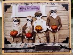 Old Times Halloween Card