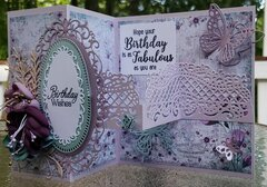Z-fold Birthday Card