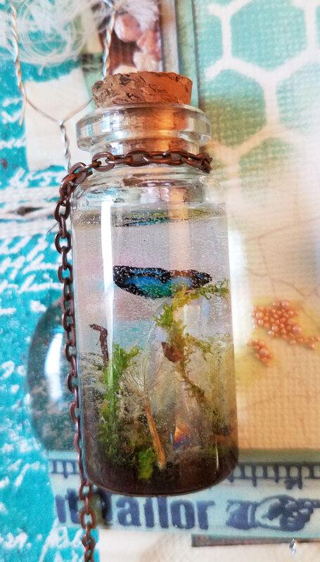 Summer Nature Sketchbook Tag - Back bottle