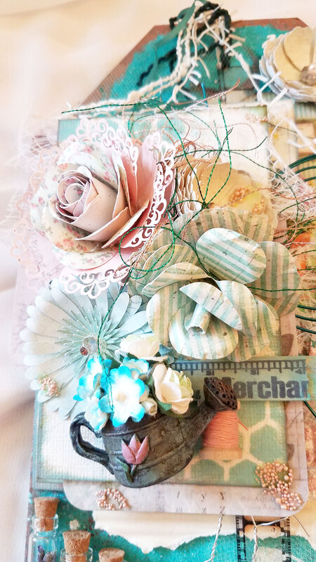 Summer Nature Sketchbook Tag - Front flowers