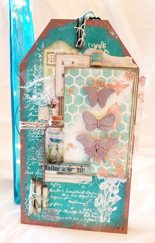 Summer Nature Sketchbook Tag - Back