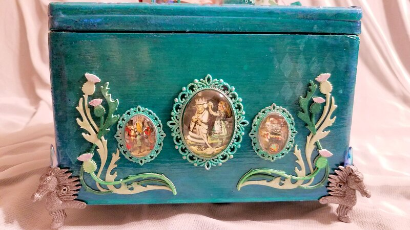 Pam's Jabberwocky Altered Cigar Box
