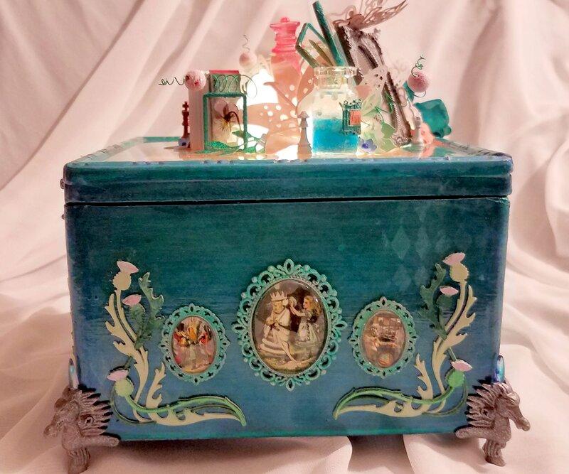 Pam's Jabberwocky Altered Cigar Box